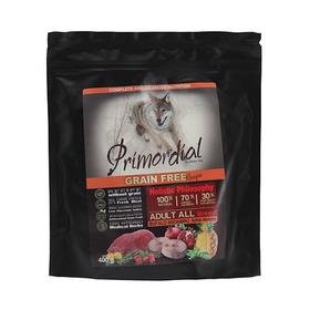 Сухой корм PRIMORDIAL для собак, беззерновой, буйвол/скумбрия, 400 г