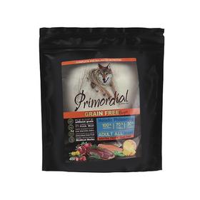Сухой корм PRIMORDIAL для собак, беззерновой, форель/утка, 400 г