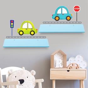 Набор полок с декоративными наклейками «Машинки», 2 шт Ош