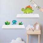 Набор полок с декоративными наклейками «Динозавры», 2 шт