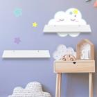 Набор полок с декоративными наклейками «Облако», 2 шт