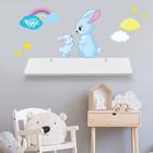 "Shelf with decorative ""Bunnies"""