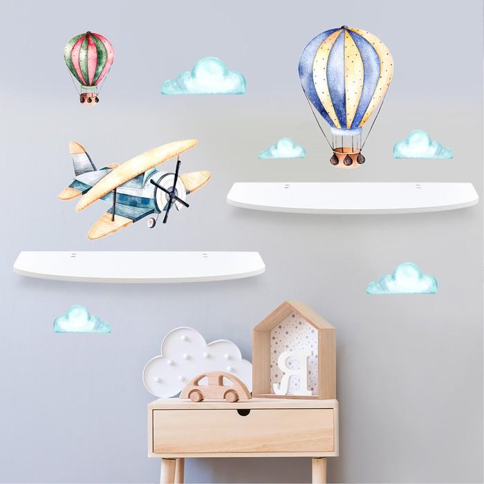 """Набор полок с декоративными наклейками """"Воздушный шар"""" 2шт."""