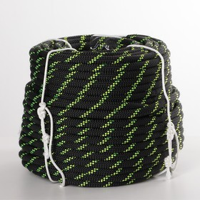 """Rope strand 40 """"Height 10"""" PA static, d=10 mm, 50 m, black"""