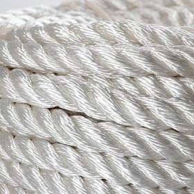 Канат кручёный ПАТ d=16 мм, 50 м, цвет белый - фото 4635815