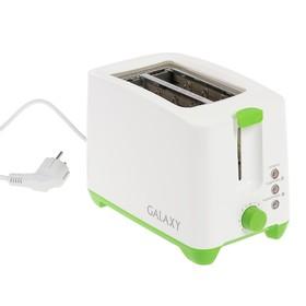 Тостер Galaxy GL 2907, 800 Вт, 7 режимов, съемный поддон для крошек, зелёный