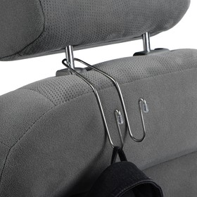 The hook on the headrest, stainless steel