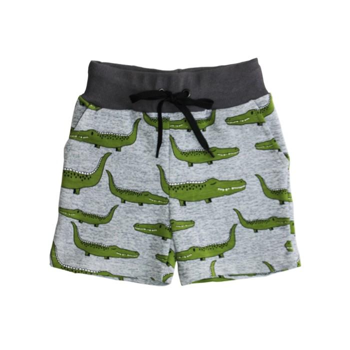 """Шорты для мальчика """"Крокодил"""", цвет серый, рост 116"""