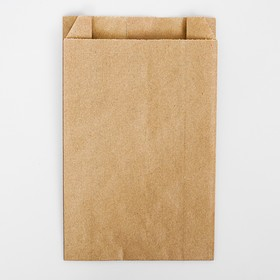 Package paper packaging, Kraft, a V-shaped bottom 22.5 x 14 x 6 cm