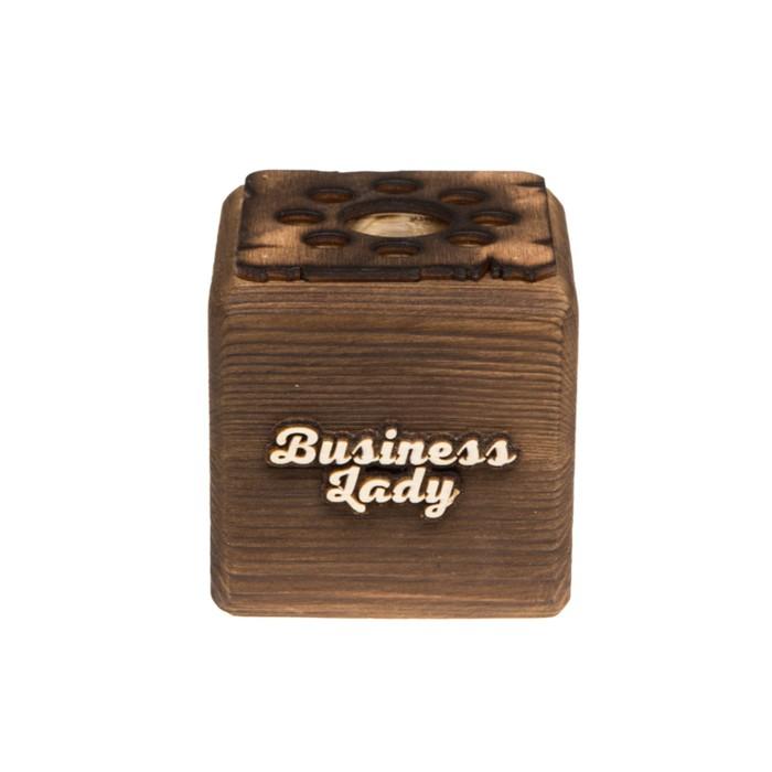 """ЭкоКуб органайзер """"Business Lady!"""" обожженный"""