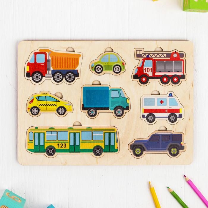 """Игра развивающая деревянная """"Автомобили"""" (30х21см)   00767"""
