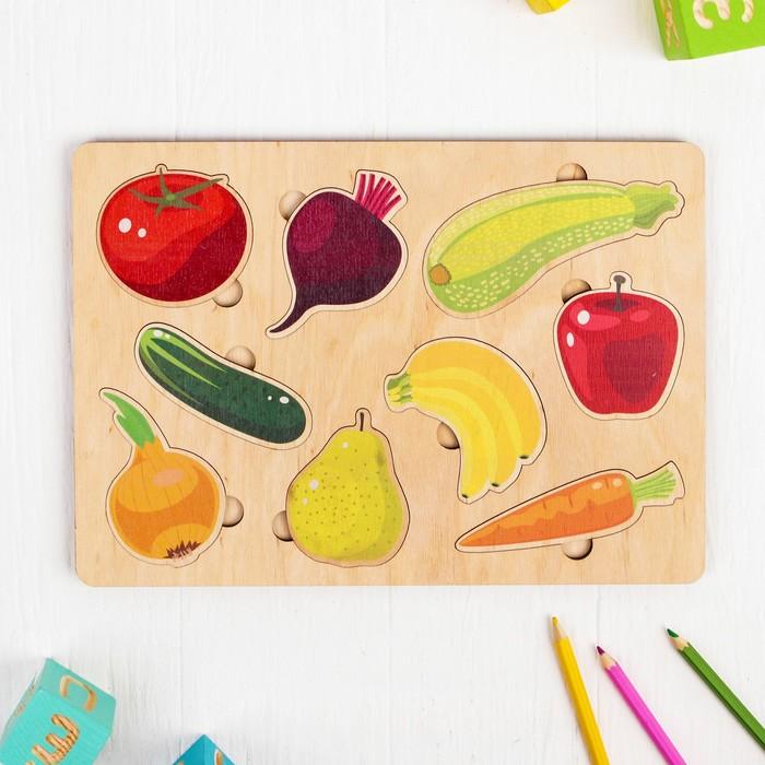 """Игра развивающая деревянная """"Овощи-фрукты"""" (30х21см)   00769"""