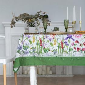 """Скатерть """"Этель"""" Луговые цветы 110х150 см, 100 % хл, саржа 190 гр/м2"""