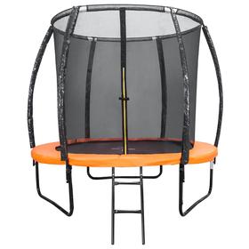 Батут DFC KENGOO 6 футов (183 см) внутр.сетка, лестница, оранж/черн Ош