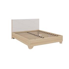 Кровать 1600 Зара комфорт, 1704х2144х1021, Дуб сонома/Белый