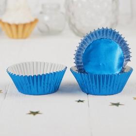Украшение для кексов, набор 24 шт., цвет синий