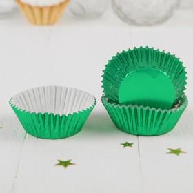 Украшение для кексов, набор 24 шт., цвет зелёный