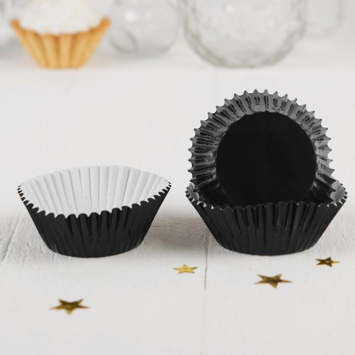 Украшение для кексов, набор 24 шт, цвет чёрный