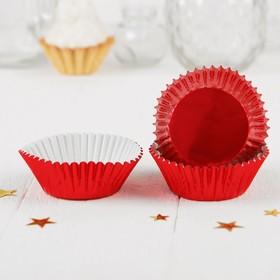 Украшение для кексов, набор 24 шт., цвет красный