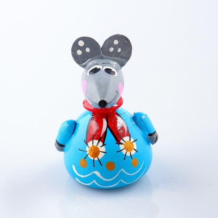 Магнит «Мышка в шарфике», ручная роспись, МИКС