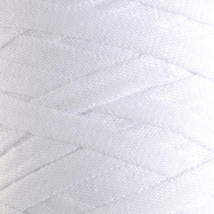 """Пряжа-шнур """"Ribbon"""" 40% полиэстер, 60% хлопок 125м/250гр (751 белый)"""