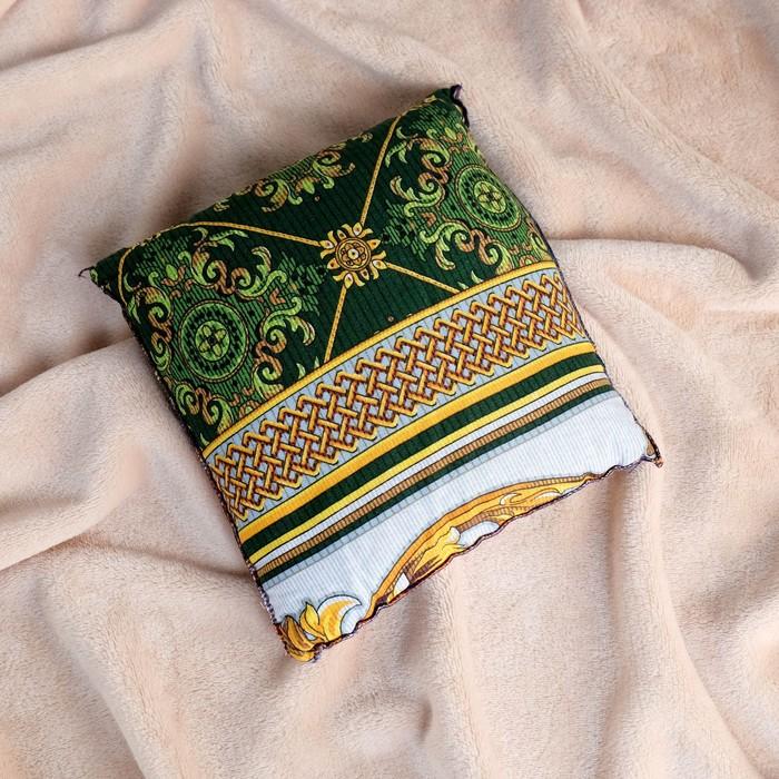 Подушка со стружкой можжевельника, сувенирная, 23×23 см, микс