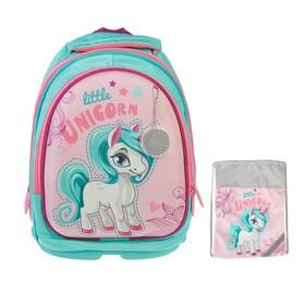 Рюкзак каркасный, Luris «Пони», 38 х 28 х 18 см, наполнение: мешок для обуви, «Единорог»