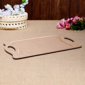 """Blank for creativity """"Tray with handles"""", 23×38 cm"""