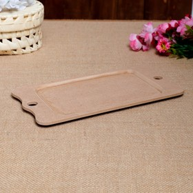 """Blank for creativity """"Tray with handles"""", 15×29 cm"""