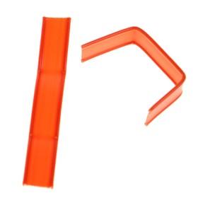 Клип-лента в нарезке, загнутая, оранжевый, 5 см