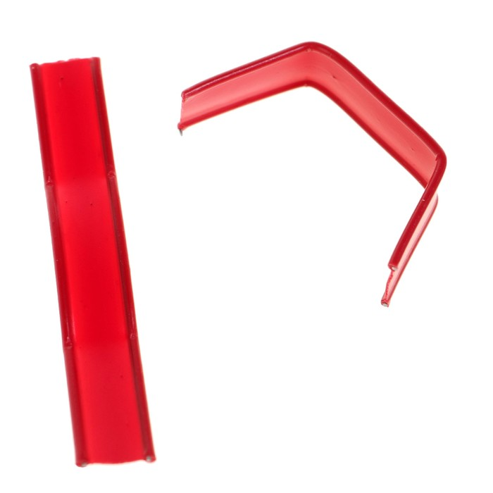 Клип-лента в нарезке, загнутая, красный, 5 см - фото 308160783