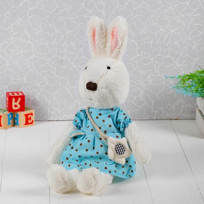 Мягкая игрушка «Зайка в платье в горошек»
