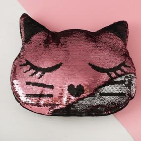 Игрушка-подушка «Кошечка», пайетки
