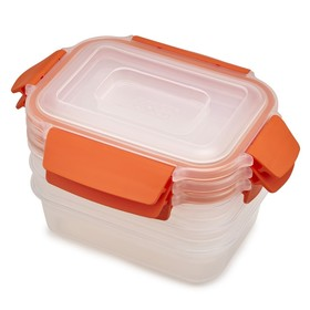 Набор из 3 контейнеров Nest Lock 540 мл, оранжевый