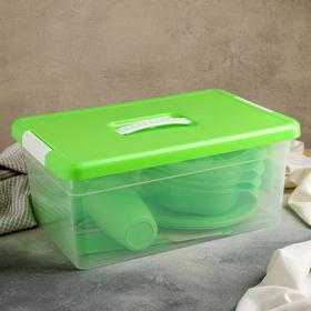 Набор для пикника, 23 предмета, цвет зелёный