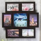 Clock photo frame Dolphins for 6 photos 10x15 cm