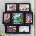 "Clock photo frame ""Beautiful scenery"" for 6 photos 10x15 cm"