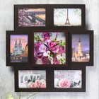"""Clock photo frame """"Bouquet of roses and orchids"""" for 6 photos 10x15 cm"""