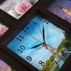 "Часы-фоторамка ""Эйфелева башня"" на 6 фото 10х15 см - фото 7262785"
