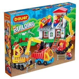 Конструктор «Стройка»: строительная площадка с автокраном и грузовиком