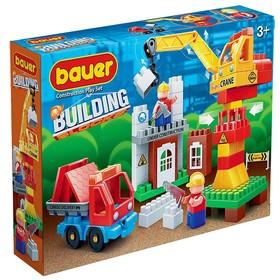 Конструктор «Стройка»: строительная площадка с краном и грузовиком