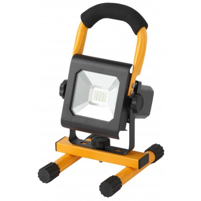 Прожектор аккумуляторный светодиодный LPR-10-6500K-А-M, 10 Вт, 6500К, цвет желтый