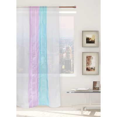 "Tulle ""Ethel"" Gamma (type 2) blue 140×280 cm (vertical bar) 50 g/m2, Voile, 100% p/e"