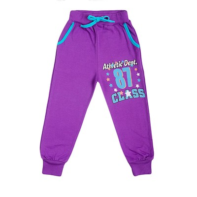 Брюки для девочки, цвет фиолетовый, рост 104-110