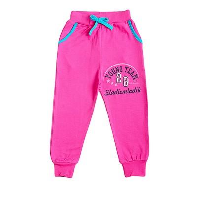 """Брюки для девочки """"Young"""", цвет розовый, рост 104-110"""