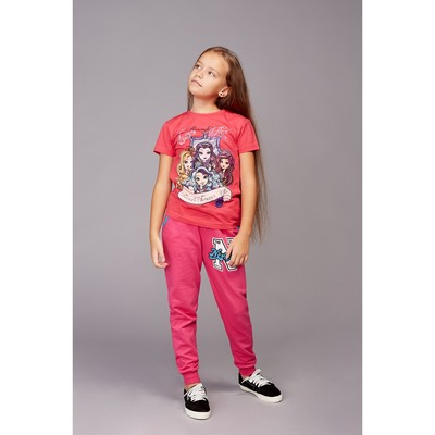 """Брюки для девочки """"NYLove"""", цвет малиновый, рост 128-134 см"""