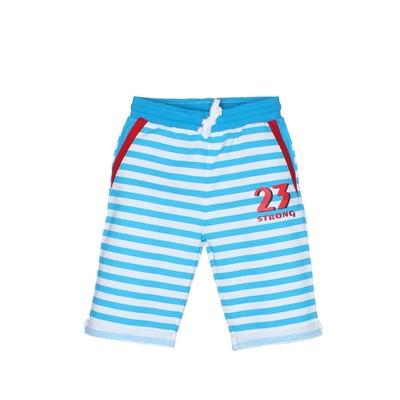 """Шорты для мальчика """"Blue Stripes"""", цвет голубой, рост 128-134"""