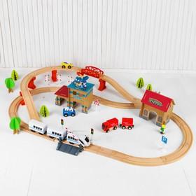 Железная дорога в банке с вертолетной площадкой