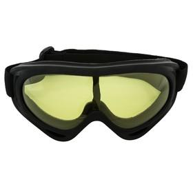 Очки для езды на мототехнике TORSO, желтое стекло, черный