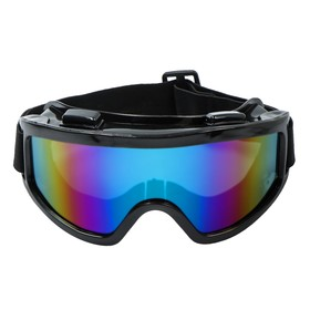 Очки-маска для езды на мототехнике Torso, стекло хамелеон, черные